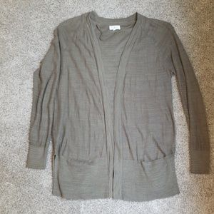 Lou and Grey linen blend open front cardigan